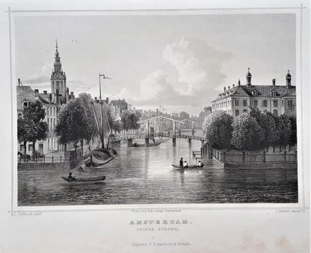 Amsterdam. Groene burgwal.