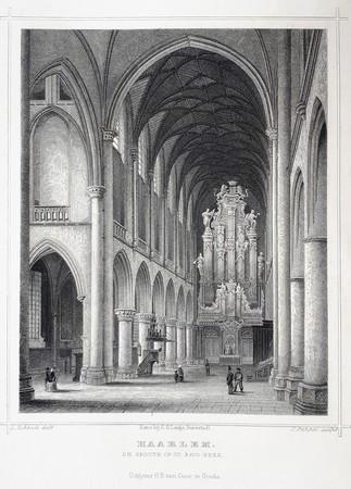 Haarlem. Interior St. Bavo Church.