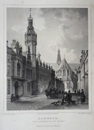 Alkmaar. Grote Sint Laurens church and town hall.