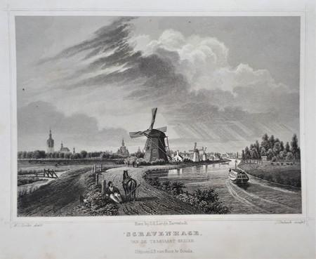 Den Haag. 's-Gravenhage van de trekvaart gezien.