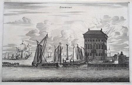 Amsterdam. Zeeburg. Fort Zeeburg te zien naar het IJ.