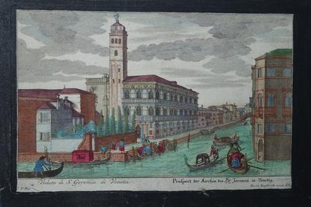 Italië. Venetië. Chiesa dei San Geremia. Canal Grande.