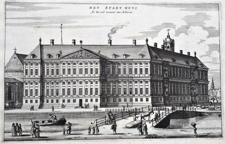 Amsterdam. Nieuwezijds Voorburgwal. Paleisstraat. Royal Palace.