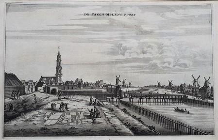Amsterdam. De Singelgracht gezien in zuidoostelijke richting.