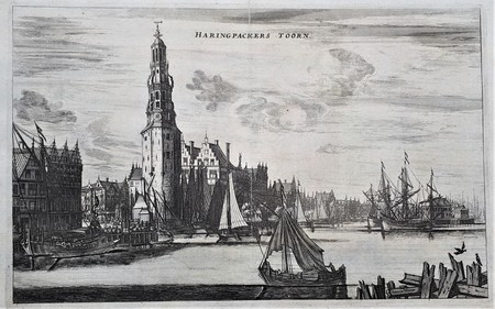 Amsterdam. Singel. Haringpakkers tower. The IJ.