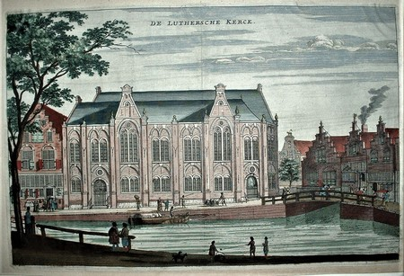 Amsterdam. Old Lutheran Church. Spui. Singel.