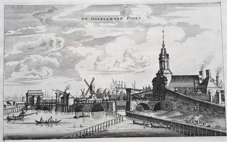 Amsterdam. The Haarlemmerpoort seen in northeastern direction from Singelgracht.