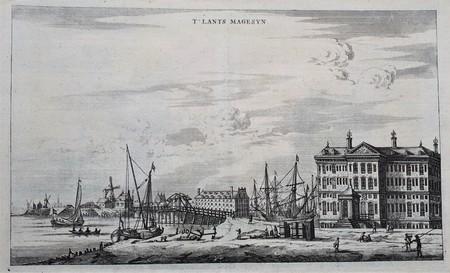 Amsterdam. Kattenburgerplein. 'T Landts Magazyn, now-a-days the Maritime Museum.