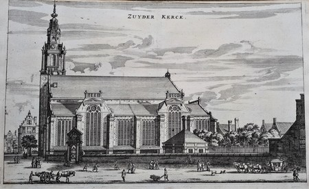 Amsterdam. The Zuider Church seen in an easterly direction.