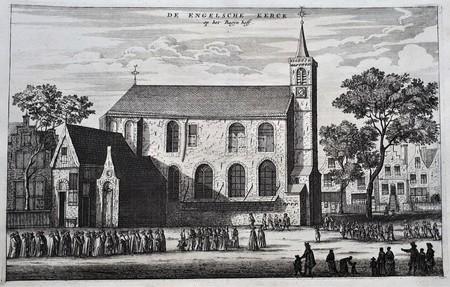 Amsterdam. The English Church at the Bagijn hoff.
