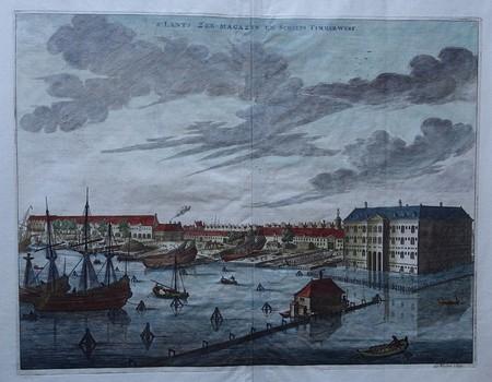Amsterdam. Kattenburg. 's Lands Zeemagazijn en scheepstimmerwerf.