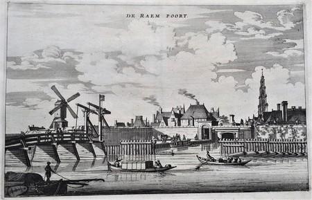 Amsterdam. Gezicht op veldzijde Raampoort