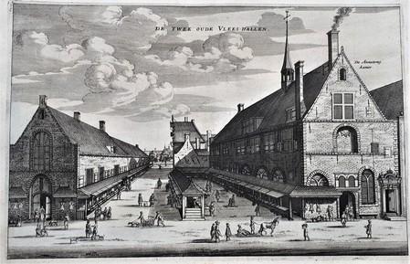 Amsterdam. Vleeshallen; ondergebracht in de kapellen van twee voormalige kloosters.