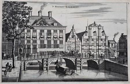 Amsterdam. 't Heren Logement. The Grimburgwal seen from the Oudezijds Voorburgwal.