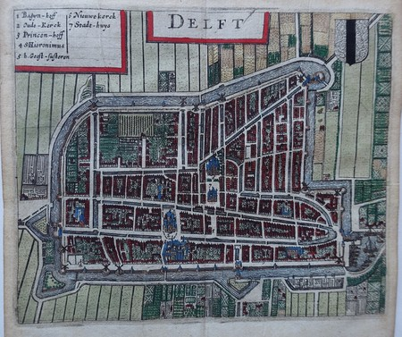 Delft. Bird's-eye plan.