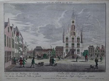 Gouda. Stadhuis. Markt.