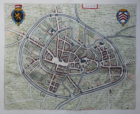 Belgium. Lier. Bird's-eye plan.