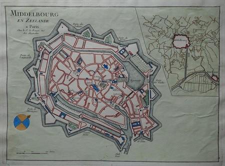Middelburg. Stadsplattegrond.