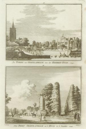 OOSTKAPELLE. Toren, Heerenhuis en Dorp..