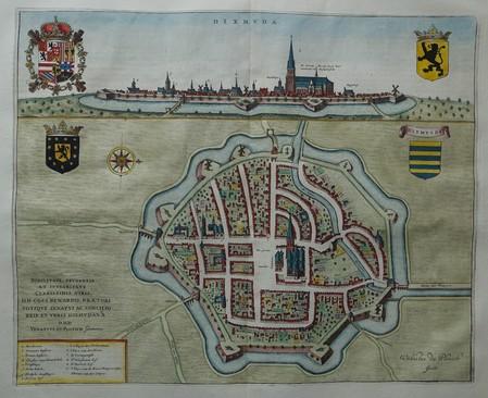 Belgium. Diksmuide. Bird's-eye plan and view.