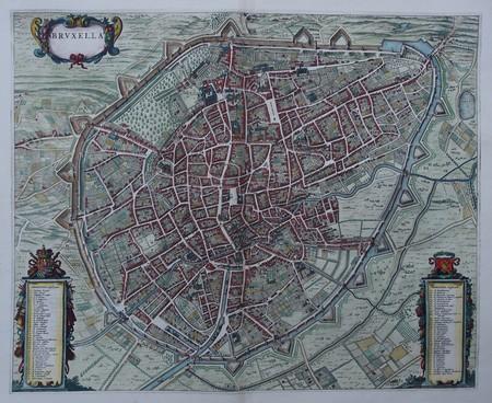 Belgium. Brussels. Bird's-eye plan.