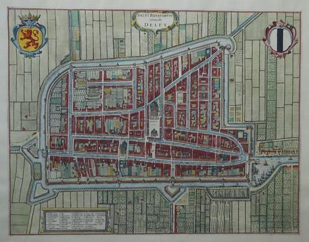 Delft. Bird's-eye plan.