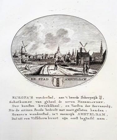 Amsterdam. Gezicht op de stad vanaf de Spaarndammerdijk.