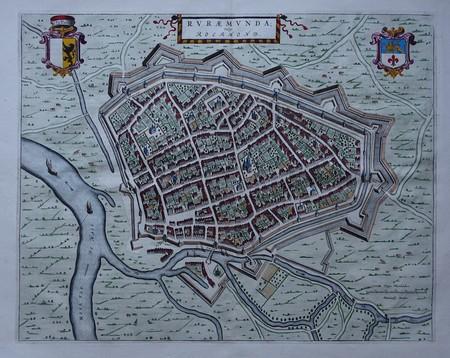 Roermond. Bird's-eye plan
