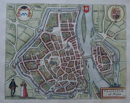 Maastricht. Bird's-eye plan