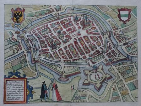 Groningen. Bird's-eye plan.
