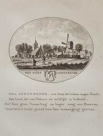 Abbenbroek. View of the village