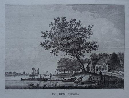 IJssel. River view.