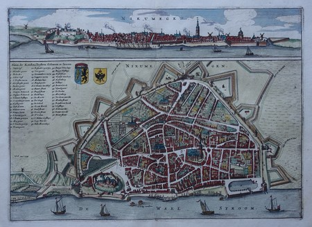 Nijmegen. Bird's-eye plan. View.
