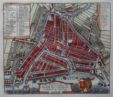 Rotterdam. Stadsplattegrond.