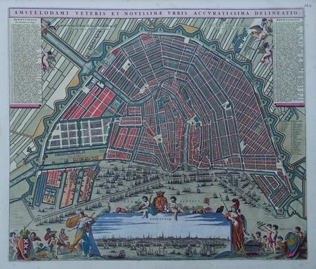 Amsterdam. Bird's-eye plan. View.