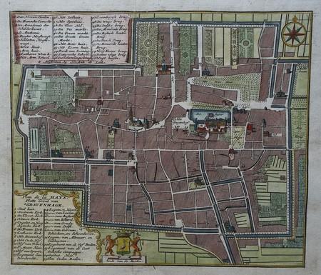 Den Haag. Stadsplattegrond van 's-Gravenhage.