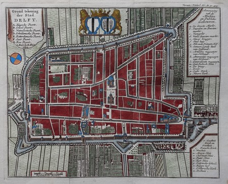 Delft. Plan of Delft.