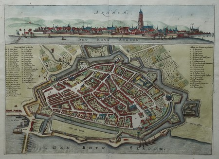 Arnhem. Bird's-eye plan. View.