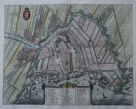 Amsterdam. Plan of Amsterdam.