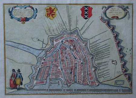 Amsterdam. Stadsplattegrond.