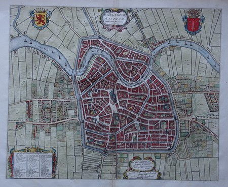 Haarlem. Bird's-eye plan.