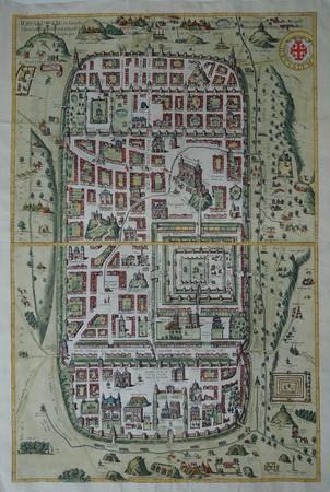 Israel. Holy Land. Ancient Jerusalem. Bird's-eye plan.