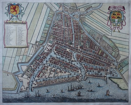 Rotterdam. Bird's-eye plan.