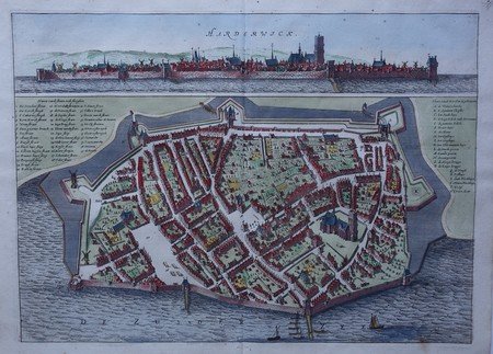 Harderwijk. Bird's-eye plan and view