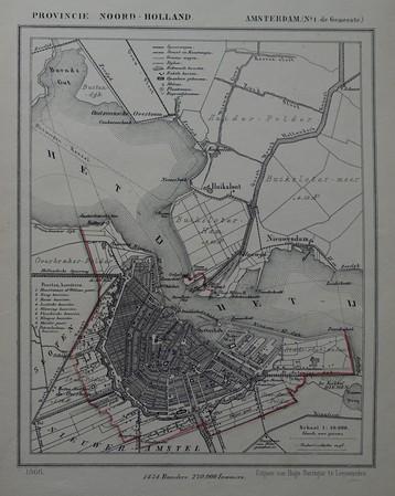 Amsterdam. Kaart gemeente Amsterdam.