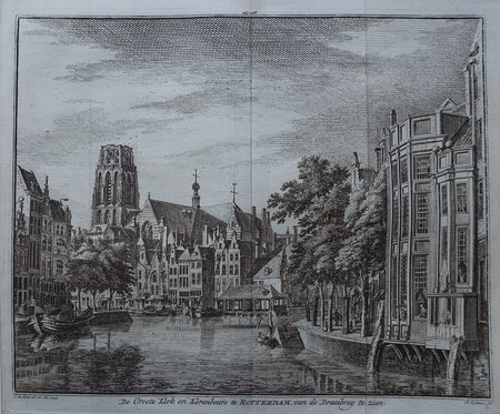 Rotterdam. View with Laurenskerk.