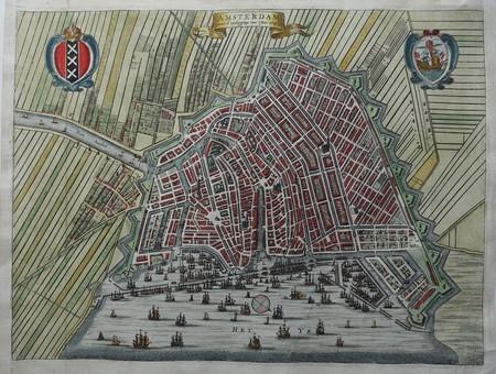 Amsterdam. Bird's-eye plan.