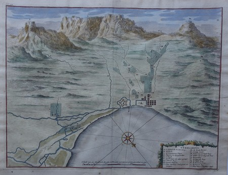 South Africa. Cape of Good Hope. Plan of Cape Town and surroundings. Table Mountain. View.