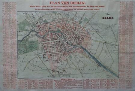 Germany. Berlin. Plan of Berlin.