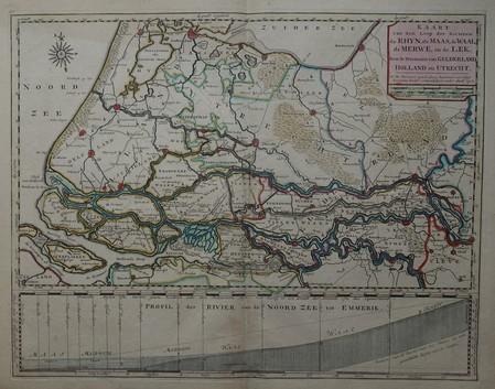 Holland. Rivers. Rijn, Maas, Waal, Merwede, Lek.